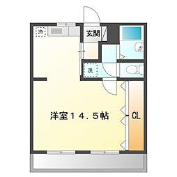 愛知県岡崎市東蔵前町字木平の賃貸マンションの間取り