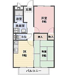 長野県小諸市大字和田の賃貸アパートの間取り