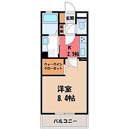 茨城県古河市駒羽根の賃貸アパートの間取り