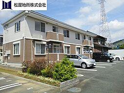 愛知県豊川市御油町一重薮の賃貸アパートの外観