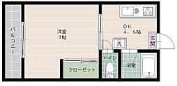 シャンポール姪浜Ⅱ[102号室]の間取り