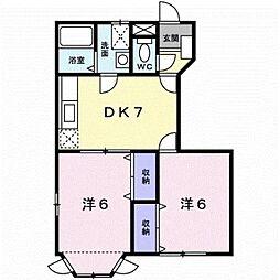 クレストール田中I[1階]の間取り