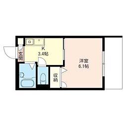 AQUA STAGE[1階]の間取り