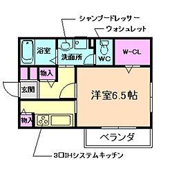 大阪府箕面市小野原西6丁目の賃貸アパートの間取り