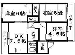 ハートフルライフ大宝[2階]の間取り