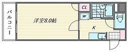 アートイン原田[5階]の間取り