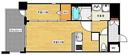 JR鹿児島本線 箱崎駅 徒歩4分の賃貸マンション 2階1LDKの間取り