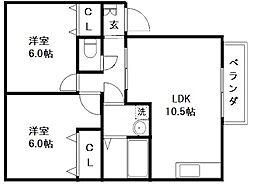 コーポミズホ[2階]の間取り