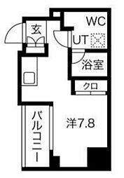 エルフォルテ五反田 4階ワンルームの間取り