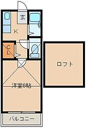 メゾンM&M[202号室]の間取り