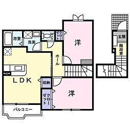 神奈川県横浜市都筑区池辺町の賃貸アパートの間取り