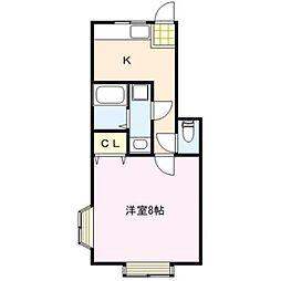 TKアパートメント[101号室]の間取り