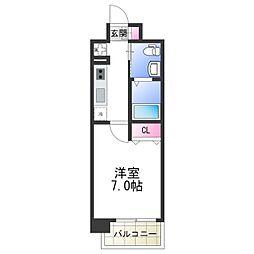 アービングNeo平野駅前 4階1Kの間取り