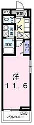 相鉄いずみ野線 弥生台駅 徒歩9分の賃貸アパート 1階1Kの間取り