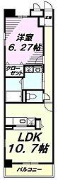 JR五日市線 東秋留駅 徒歩16分の賃貸マンション 1階1LDKの間取り