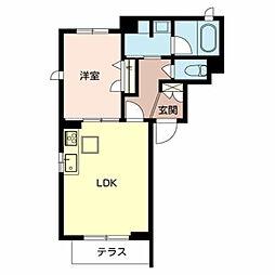 (仮称)堺市北区シャーメゾン新金岡町 1階1LDKの間取り