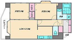シティマンション香椎南[2階]の間取り