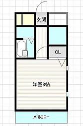 プレスト箱崎ステーション[301号室]の間取り