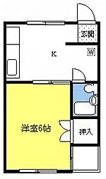 プリエールマンション[3A号室]の間取り