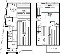 [一戸建] 福岡県福岡市博多区千代4丁目 の賃貸【/】の間取り