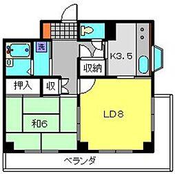 二俣川YUビル[5階]の間取り