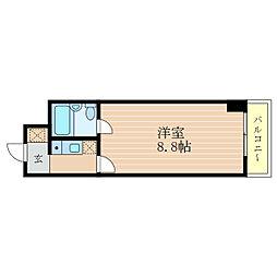 滋賀県彦根市松原町の賃貸マンションの間取り