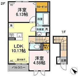 仮)D-room御津町広石 2階2LDKの間取り