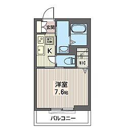 仮)練馬区石神井町1丁目シャーメゾン 1階1Kの間取り