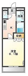 サンコート桜[1階]の間取り