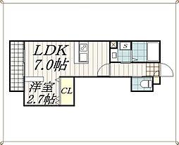 千葉県千葉市中央区鶴沢町の賃貸アパートの間取り