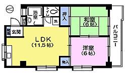 第2長谷川マンション[2階]の間取り