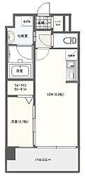 JR鹿児島本線 竹下駅 徒歩19分の賃貸マンション 3階1LDKの間取り