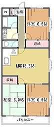 メゾンホークロード[2階]の間取り