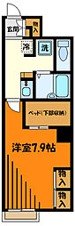 JR中央線 西八王子駅 バス12分 横川下車 徒歩9分の賃貸アパート 1階1Kの間取り