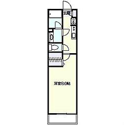 リブリフローラ[1階]の間取り