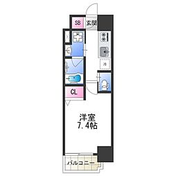 FDS PLACZ SHIN-OSAKA 7階1Kの間取り