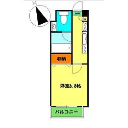 アンソレイユ横浜[7階]の間取り
