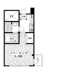 東京都中野区東中野3丁目の賃貸マンションの間取り