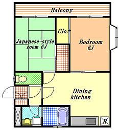 シュペリュール[3階]の間取り