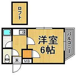 ラピタ福岡ドーム前[101号室]の間取り