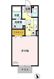 愛知県豊田市中根町永池の賃貸アパートの間取り