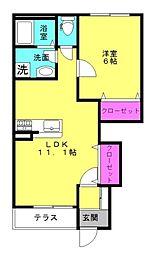 仮)本町新築アパート[102号室]の間取り