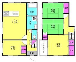 [一戸建] 兵庫県高砂市竜山1丁目 の賃貸【/】の間取り