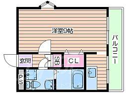 若杉ロイヤルマンション[6階]の間取り