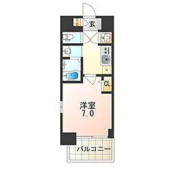 JR大阪環状線 弁天町駅 徒歩12分の賃貸マンション 5階1Kの間取り