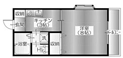 シャトーオガワ[2階]の間取り