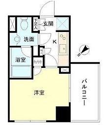 東京都中央区日本橋茅場町3丁目の賃貸マンションの間取り