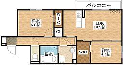 仮称)D-room加美正覚寺一丁目[3階]の間取り