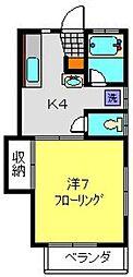 ヒルズフジヤマ[22号室]の間取り