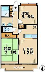 ユーフォリア松木[105号室]の間取り